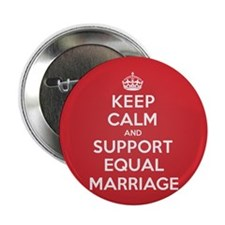 """K C Support Equal Marriage 2.25"""" Button (10 pack)"""