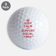 K C Support Equal Marriage Golf Ball