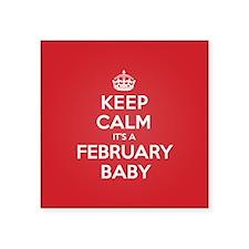 K C February Baby Sticker