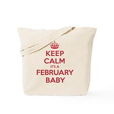 K C February Baby Tote Bag