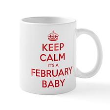 K C February Baby Mug