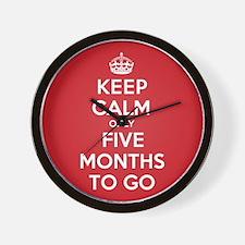 K C Five Months Wall Clock