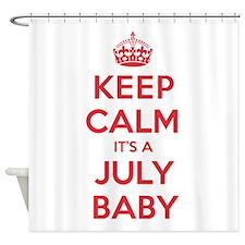 K C July Baby Shower Curtain