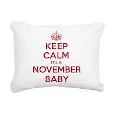 K C November Baby Rectangular Canvas Pillow