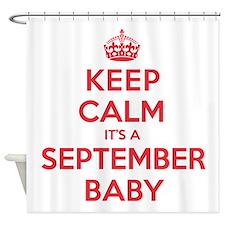 K C September Baby Shower Curtain