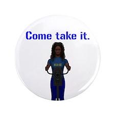 "Molon Labe (Gatling, Female) 3.5"" Button (100 pack"