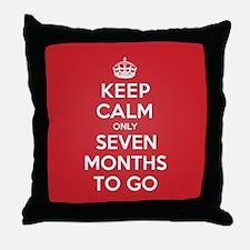 K C seven Months Throw Pillow