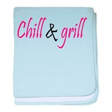 chill and grill baby blanket
