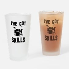 Drums Designs Drinking Glass