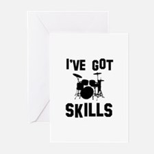 Drums Designs Greeting Cards (Pk of 10)