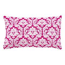 Hot Pink Damask pattern Pillow Case