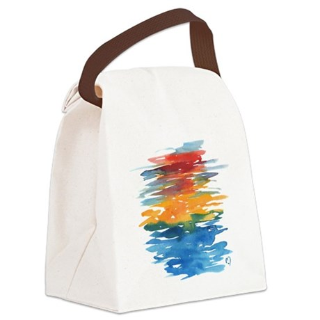 Atom Sea #21 Canvas Lunch Bag