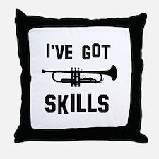 Trumpet Designs Throw Pillow