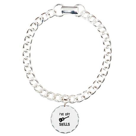 Ukulele Designs Charm Bracelet, One Charm