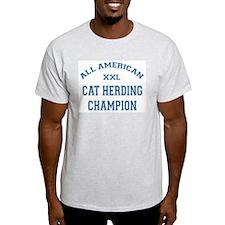 AA Cat Herding Champion Ash Grey T-Shirt