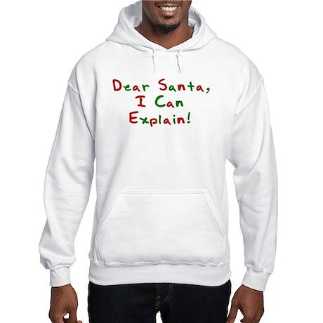Dear Santa, I Can Explain! Hooded Sweatshirt