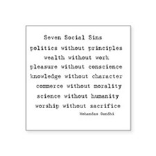 Seven Social Sins Rectangle Sticker
