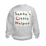 Santa's Little Helper  Kids Sweatshirt