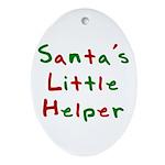 Santa's Little Helper  Oval Ornament