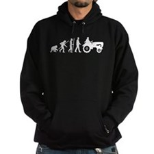 evolution of man farmer with a tractor Hoody
