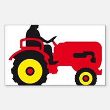 farmer with a tractor Decal