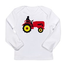 farmer with a tractor Long Sleeve T-Shirt