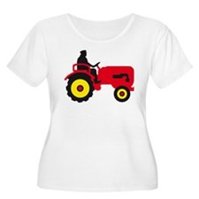 farmer with a tractor Plus Size T-Shirt