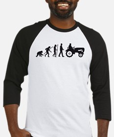 evolution of man farmer with a tractor Baseball Je