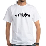 Evolution farmer shirt Mens White T-shirts
