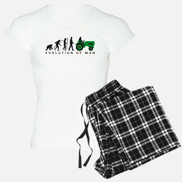 evolution of man farmer with a tractor Pyjamas