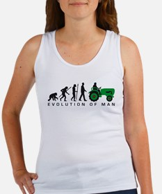 evolution of man farmer with a tractor Tank Top