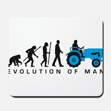 evolution of man farmer with a tractor Mousepad