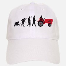 evolution of man farmer with a tractor Baseball Ca