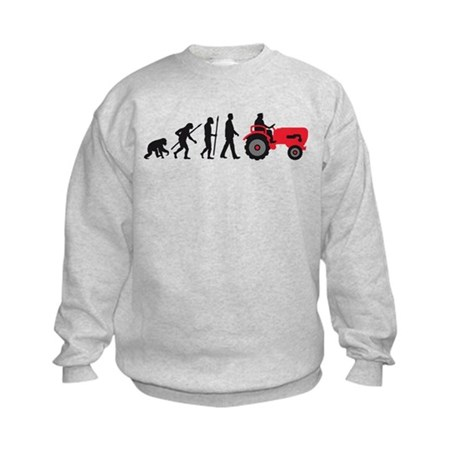 evolution of man farmer with a tractor Sweatshirt