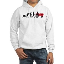 evolution of man farmer with a tractor Hoodie