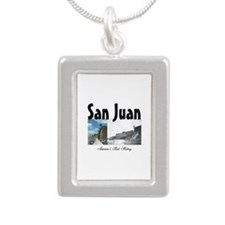 ABH San Juan Silver Portrait Necklace