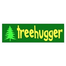 TREEHUGGER... Bumper Car Car Sticker