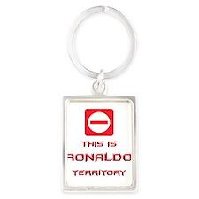 Cute Ronaldo Portrait Keychain