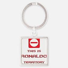 Unique Ronaldo Square Keychain