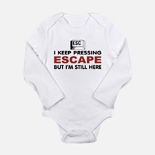 Escape Key Long Sleeve Infant Bodysuit