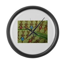Easter Bunnies Large Wall Clock