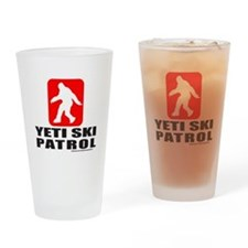 YETI SKI PATROL Drinking Glass
