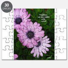 Purple Daisy Three Puzzle