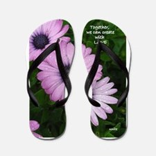 Purple Daisy Three Flip Flops