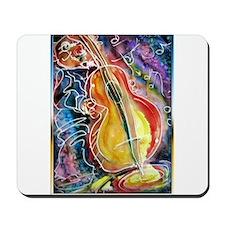 Bass player, fun music art Mousepad