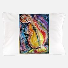 Bass player, fun music art Pillow Case
