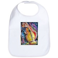 Bass player, fun music art Bib