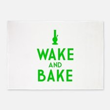 Wake and Bake Bong 5'x7'Area Rug