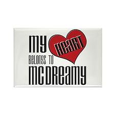 Heart Belongs McDreamy Rectangle Magnet