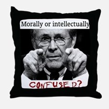 Rumsfeld is Morally or Intell Throw Pillow